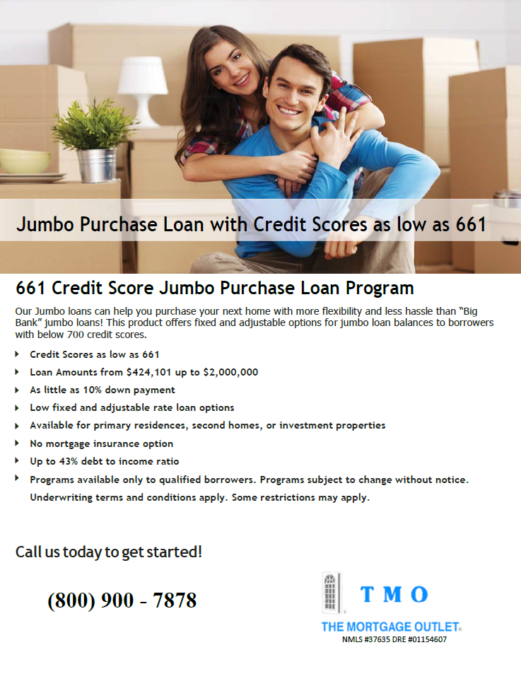 Website 661 Credit Score Jumbo Purchase Loan